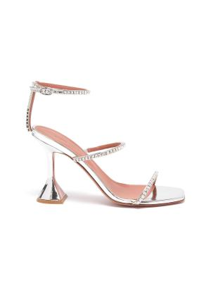 Gilda crystal strap heeled sandals