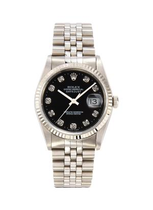 Rolex Datejust diamond stainless steel watch