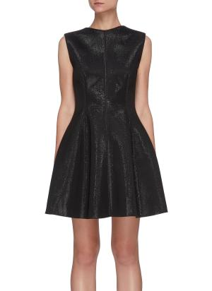 Sentiment' open back shimmer mini dress
