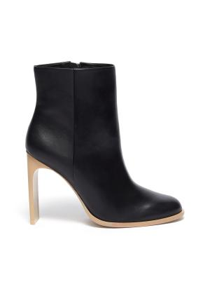 'KATHY' Wood Sole Blade Heel Ankle Boots