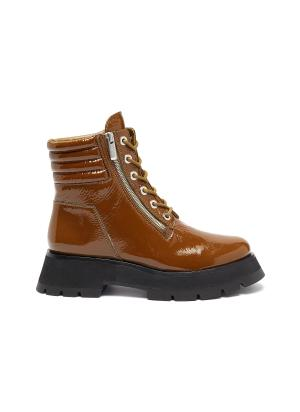 'Kate' platform patent leather combat boots