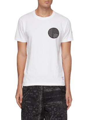 Sashiko circle patch T-shirt