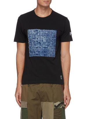 Square boro patch T-shirt