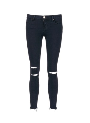 'Photo Ready' ripped knee cropped skinny jeans