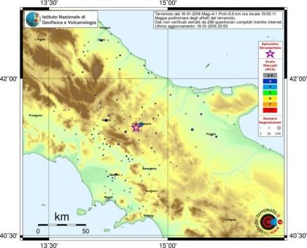 cartina terremoto campobasso molise 16012016