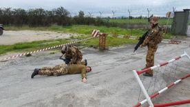 Aeronautica Militare Check point ad un ingresso