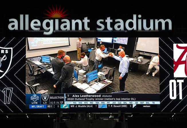NFL Draft Party At Allegiant Stadium