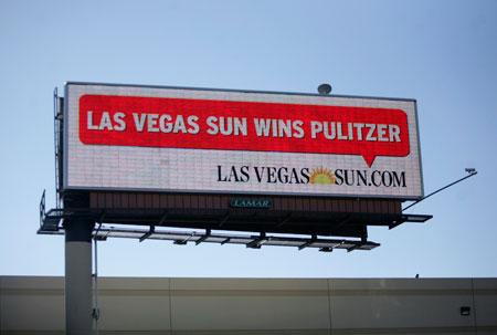 Las Vegas Sun Pulitzer billboard