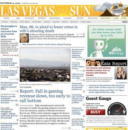 Las Vegas Sun Guest Gauge