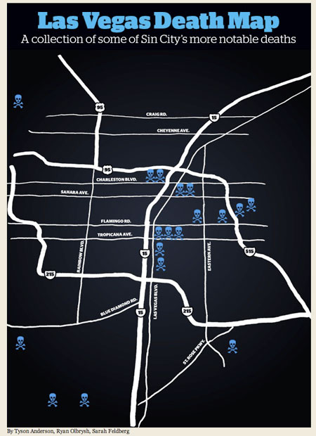 Las Vegas Weekly death map
