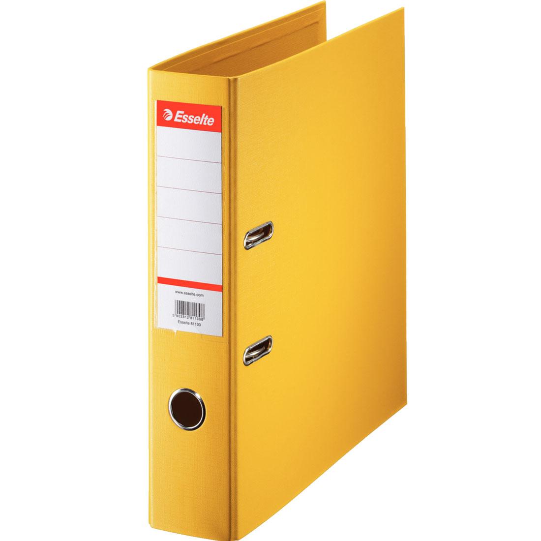 classeur esselte classeur a levier standard 75mm jaune classeur a levier standard 2 anneaux dos 75