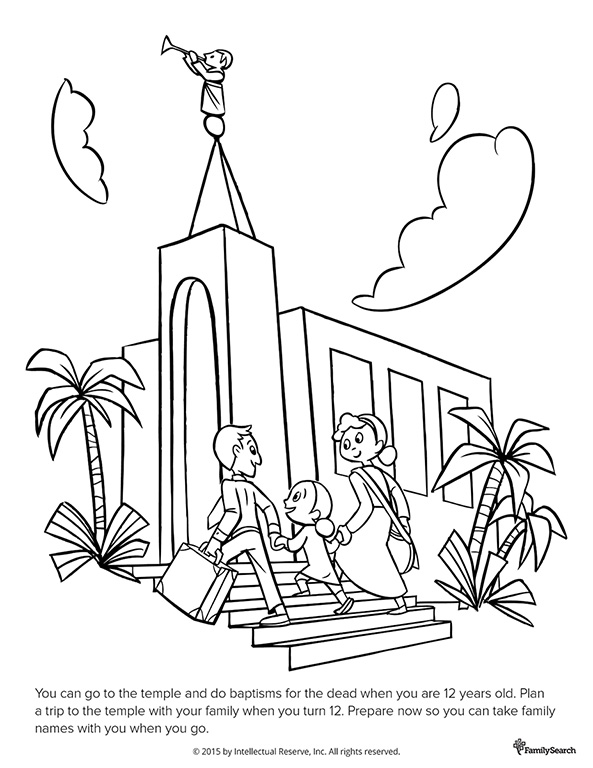 lds family temple coloring pages sketch coloring page