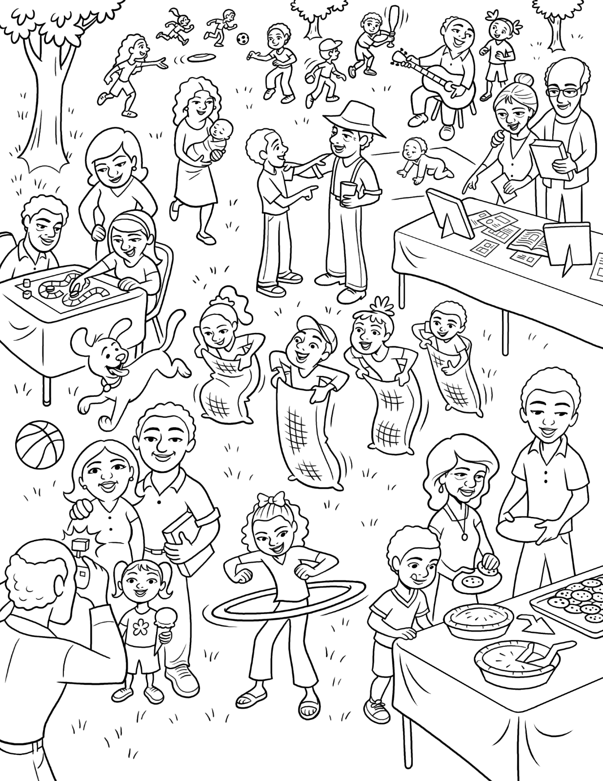 Christmas Family Dinner Coloring Pages