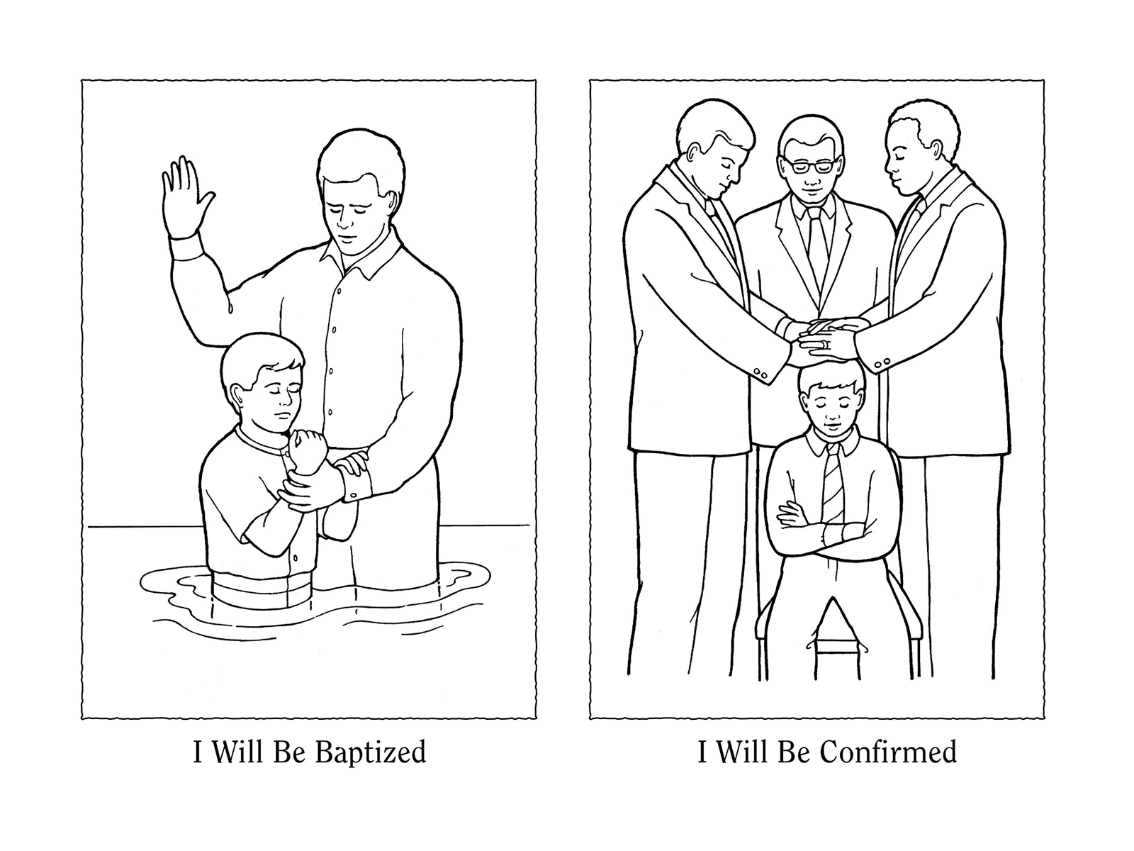 Jesus Baptism Coloring Page Lds