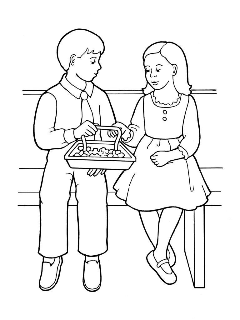 children partaking of sacrament bread