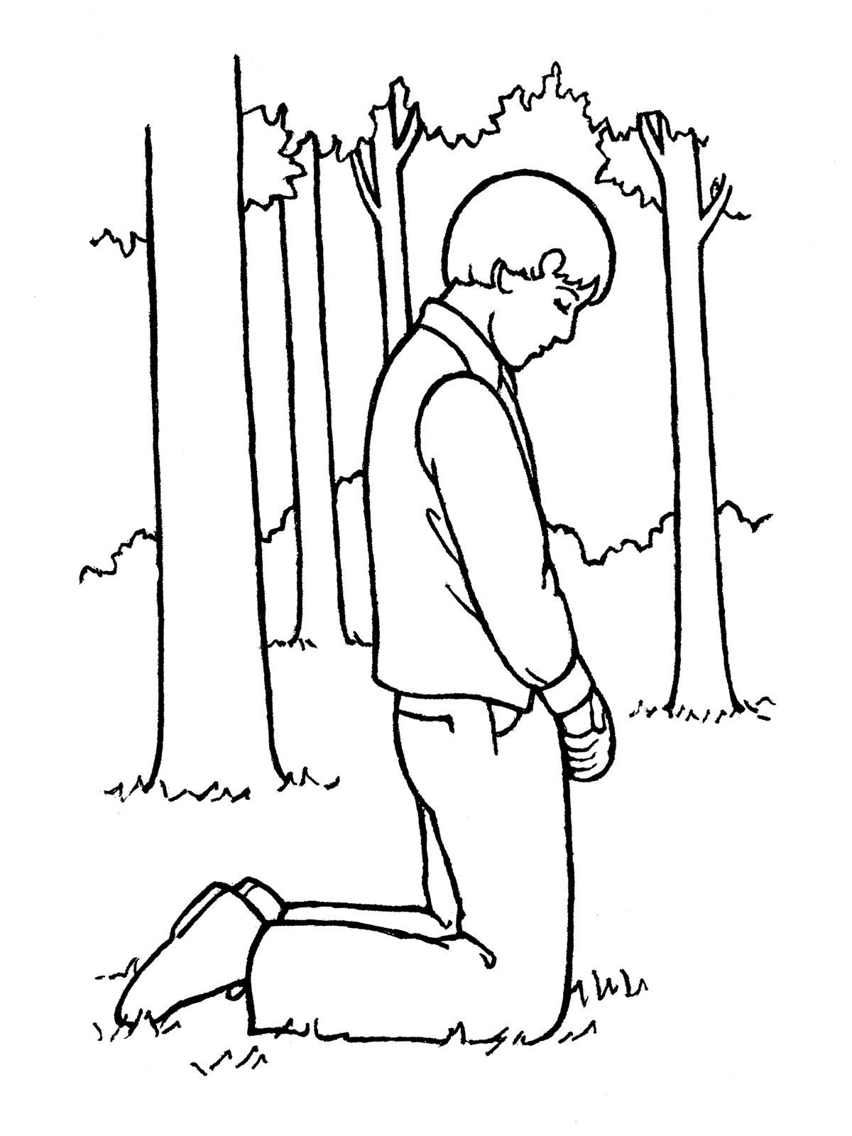 Joseph Smith Praying In The Sacred Grove
