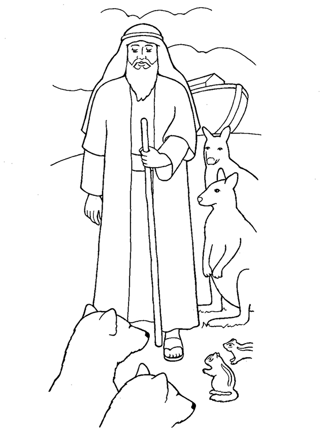 Noah With The Ark And Animals