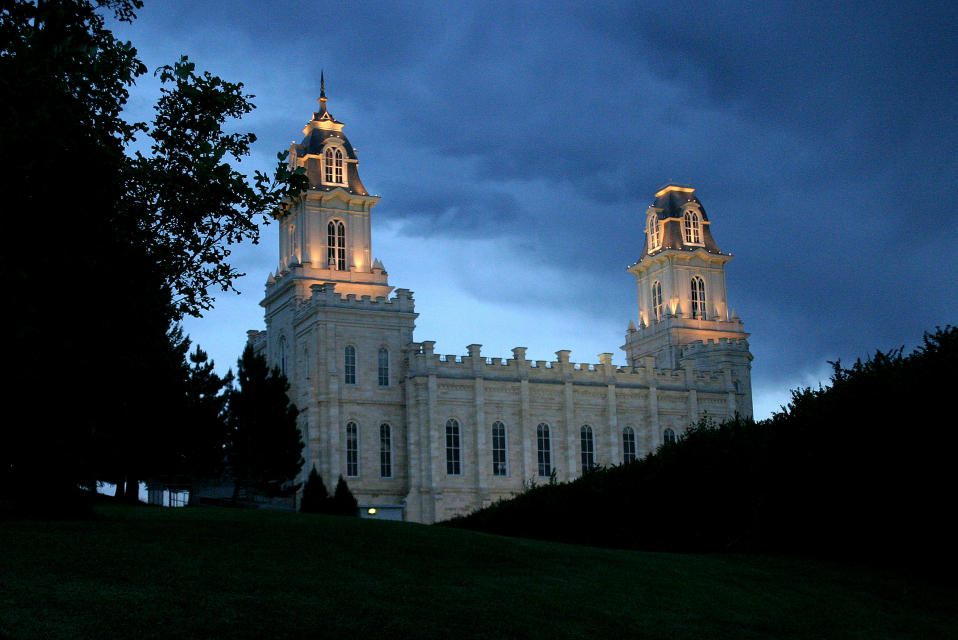 Manti Utah Temple. Courtesy LDS Media Library