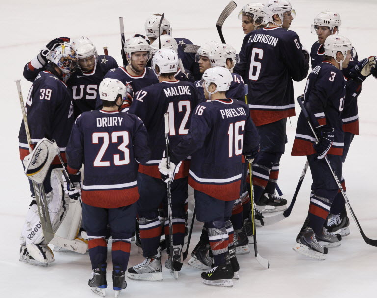 2010 United States men's Olympic Hockey team