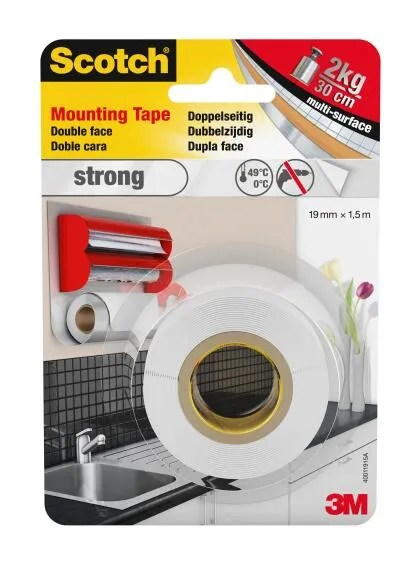 Mounting Tape Double Face Strong 19mmx1 5m Scotch Leroy Merlin South Africa
