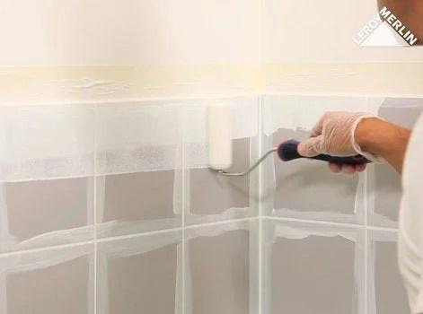comment peindre un carrelage mural