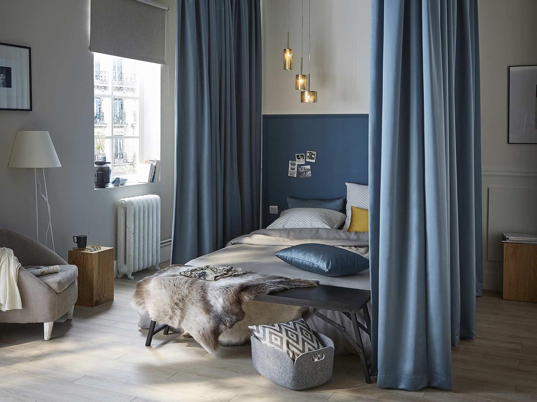 creer des rideaux sur mesure pour lit a