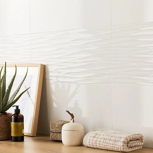 carrelage mur intenso uni blanc brillante l 30 x l 60 cm arctic artens