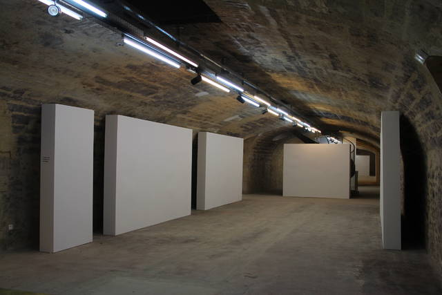 Le premier niveau des caves est dédié aux expositions.