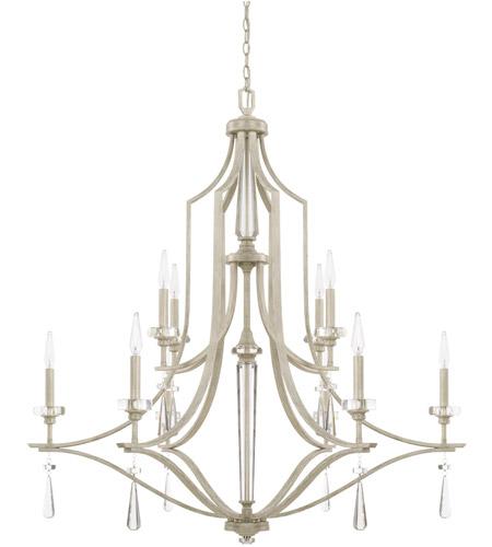 capital lighting 427801ww serena 10 light 43 inch winter white chandelier ceiling light