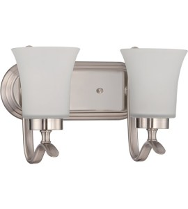 Craftmade 38302 SN Northlake 2 Light 14 inch Satin Nickel Vanity     Craftmade 38302 SN Northlake 2 Light 14 inch Satin Nickel Vanity Light Wall  Light