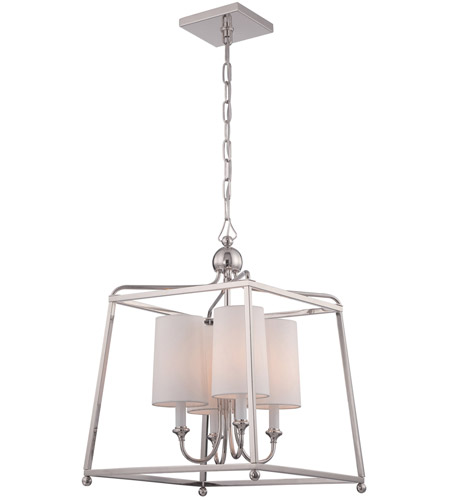 Crystorama 2245 Pn Sylvan 4 Light 16 Inch Polished Nickel Chandelier Ceiling In
