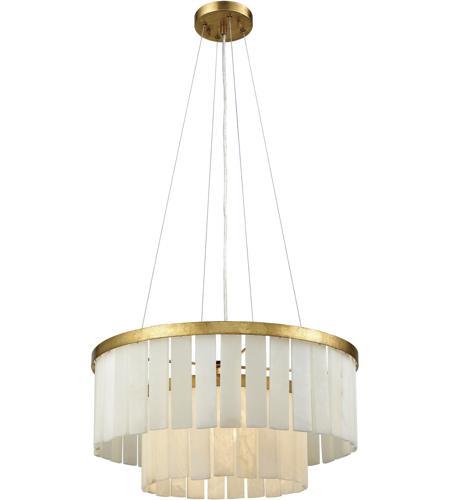 Dimond Lighting 1142 013 Orchestra 1 Light 20 Inch Gold Leaf Chandelier Ceiling
