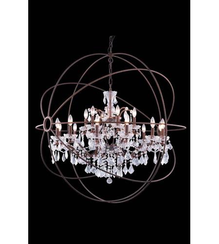 elegant lighting 1130g43ri rc geneva 18 light 44 inch rustic intent pendant ceiling light in clear urban classic