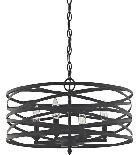 Elk 81185 4 Vorticy Light 20 Inch Oil Rubbed Bronze Chandelier Ceiling
