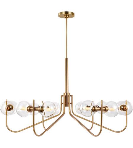 generation lighting ec10912bbs ed ellen degeneres verne 12 light 40 inch burnished brass chandelier ceiling light