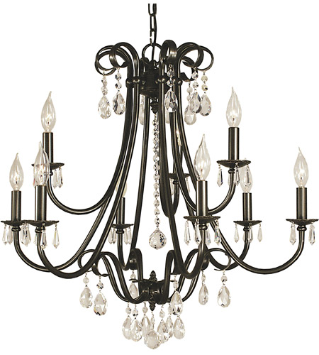 Framburg 2999mb Liebestraum 9 Light 27 Inch Mahogany Bronze Dining Chandelier Ceiling Photo