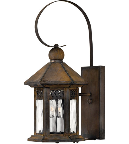 hinkley 2990sn westwinds 2 light 20 inch sienna outdoor wall mount