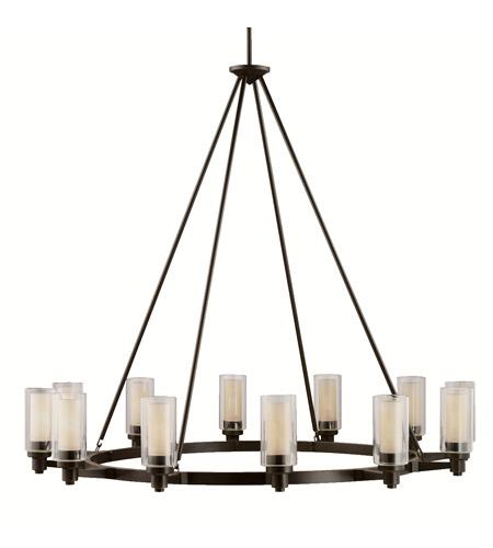 Kichler 2347oz Circolo 12 Light 45 Inch Olde Bronze Chandelier Ceiling