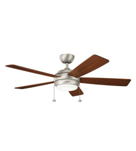 Kichler 330174NI Starkk 52 inch Brushed Nickel with Silver Blades     Kichler 330174NI Starkk 52 inch Brushed Nickel with Silver Blades Ceiling  Fan photo