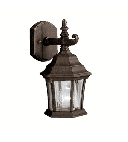 kichler 9788tz townhouse 1 light 12 inch tannery bronze outdoor wall small