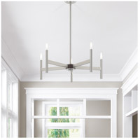 copenhagen 5 light 25 inch brushed nickel chandelier ceiling light