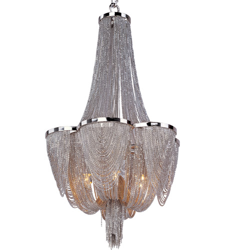 Maxim 21464nkpn Chantilly 6 Light 14 Inch Polished Nickel Single Tier Chandelier Ceiling