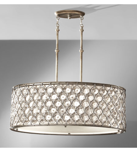 Feiss F2569 3bus Lucia 3 Light 16 Inch Burnished Silver Chandelier Ceiling In Standard