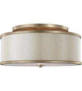 Feiss SF339SG Lennon 3 Light 20 inch Sunset Gold Semi Flush Mount     Feiss SF339SG Lennon 3 Light 20 inch Sunset Gold Semi Flush Mount Ceiling  Light  Cream Linen