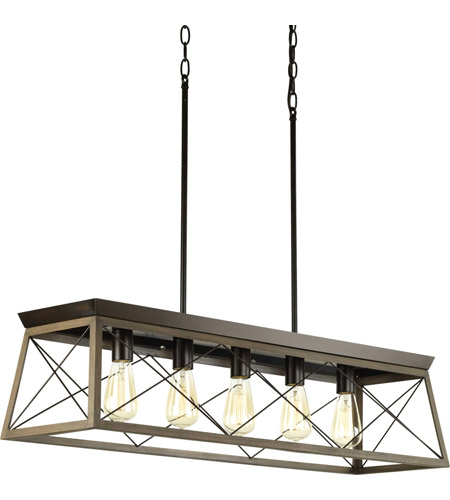 progress p400048 020 briarwood 5 light 38 inch antique bronze linear chandelier ceiling light