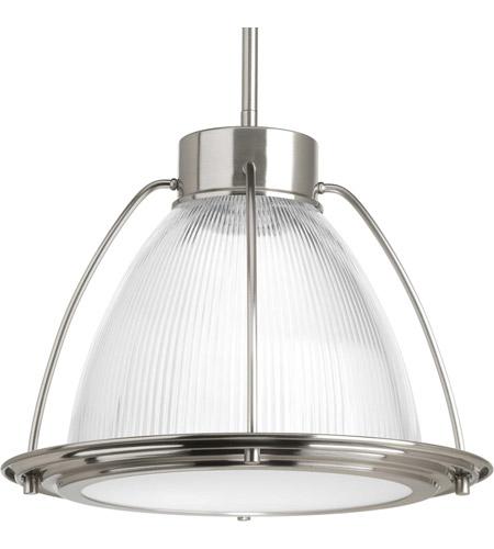 progress p5143 0930k9 prismatic glass led brushed nickel pendant ceiling light progress led