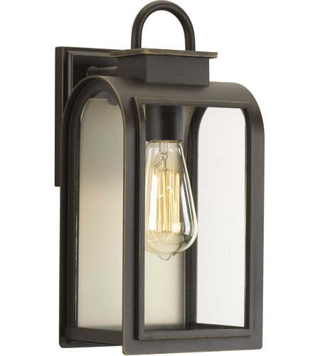 refuge 1 light 13 inch oil rubbed bronze outdoor wall lantern small