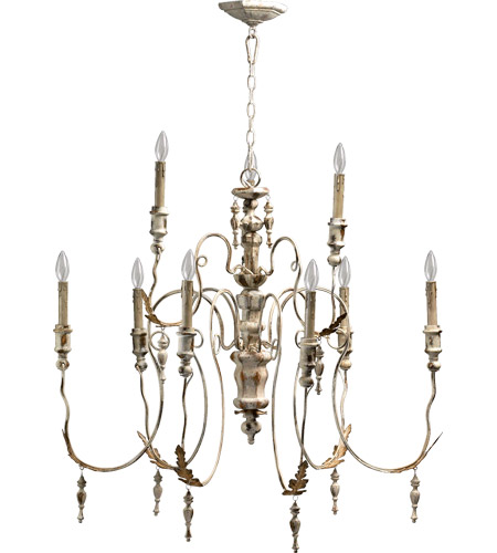 quorum 6006 9 70 salento 9 light 32 inch persian white chandelier ceiling light