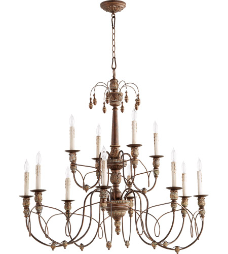 Quorum 6106 12 39 Nto Light Inch Vintage Copper Chandelier Ceiling