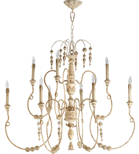 Quorum 6206 9 70 Nto Light 41 Inch Persian White Chandelier Ceiling